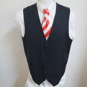 Sz XL Navy Joseph Abboud Mens Wool #79H Suit Vest